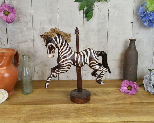 Fair Ground Zebra On Stick 30cm